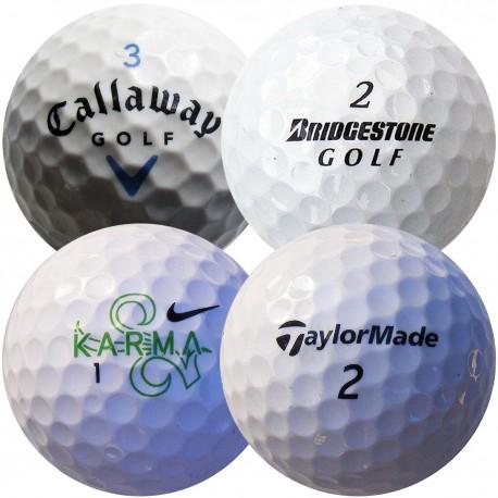 Mix golfových míčů Callaway, Bridgestone, Nike, TaylorMade 50 ks levné golfové míče