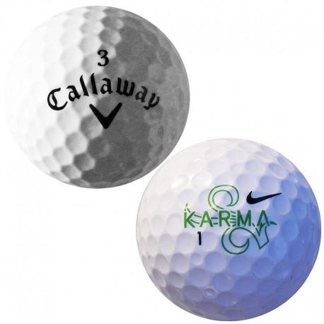 Mix golfových míčů Callaway a Nike 50 ks, levné golfové míče