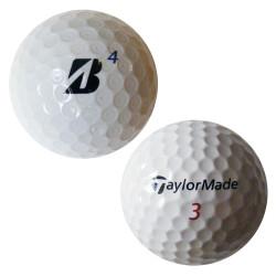 Trénink mix 4-vrstvé golfové míče (TaylorMade Penta, Bridgestone B330) 50 + 10 ks ZDARMA - C