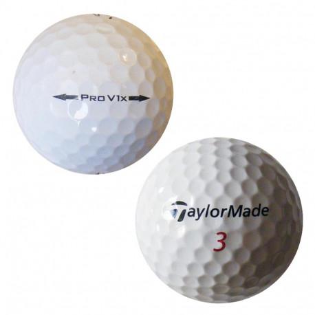 Trénink mix 4-vrstvé golfové míče (Titleist Pro V1, TaylorMade Penta) 50 + 10 ks ZDARMA - C, levné golfové míče