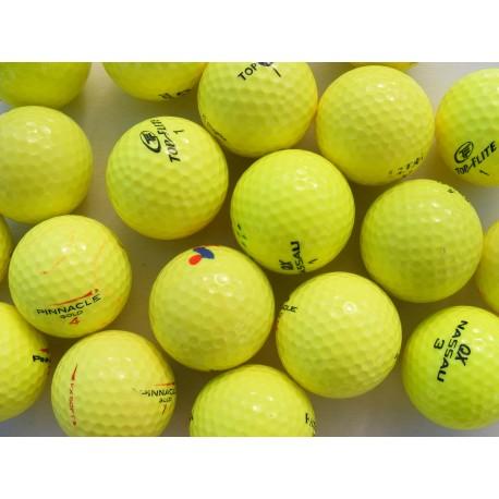 Žluté golfové míče (50 + 10 ks ZDARMA) levné barevné golfové míče