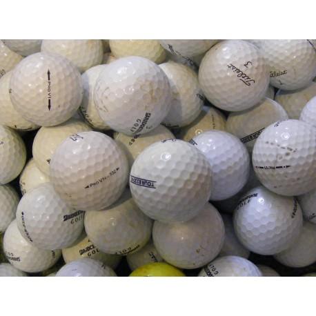 Trénink mix 4-plášťové golfové míče (Titleist Pro V1, Bridgestone B330) 100 + 20 ks ZDARMA - C, levné golfové míče