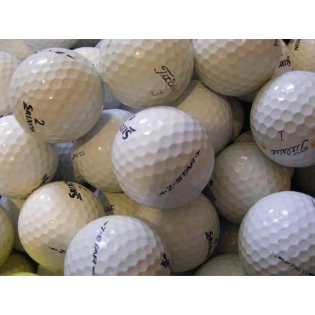 Trénink mix 4-vrstvé golfové míče (Titleist Pro V1, Srixon Z-Star) 100 + 20 ks ZDARMA - C, levné golfové míče