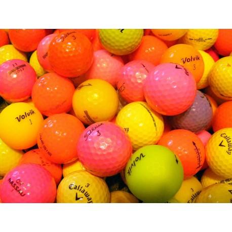Barevné golfové míče 50 ks levné barevné golfové míče